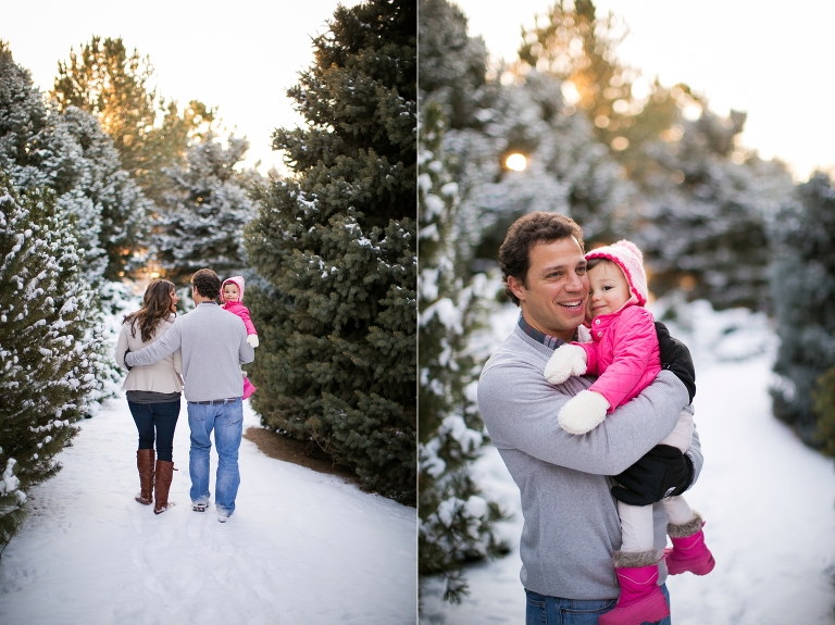 Winter Christmas Pictures in Littleton Colorado