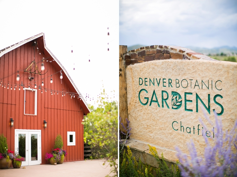 Denver botanic gardens at chatfield romantic wedding for Botanic gardens denver free days