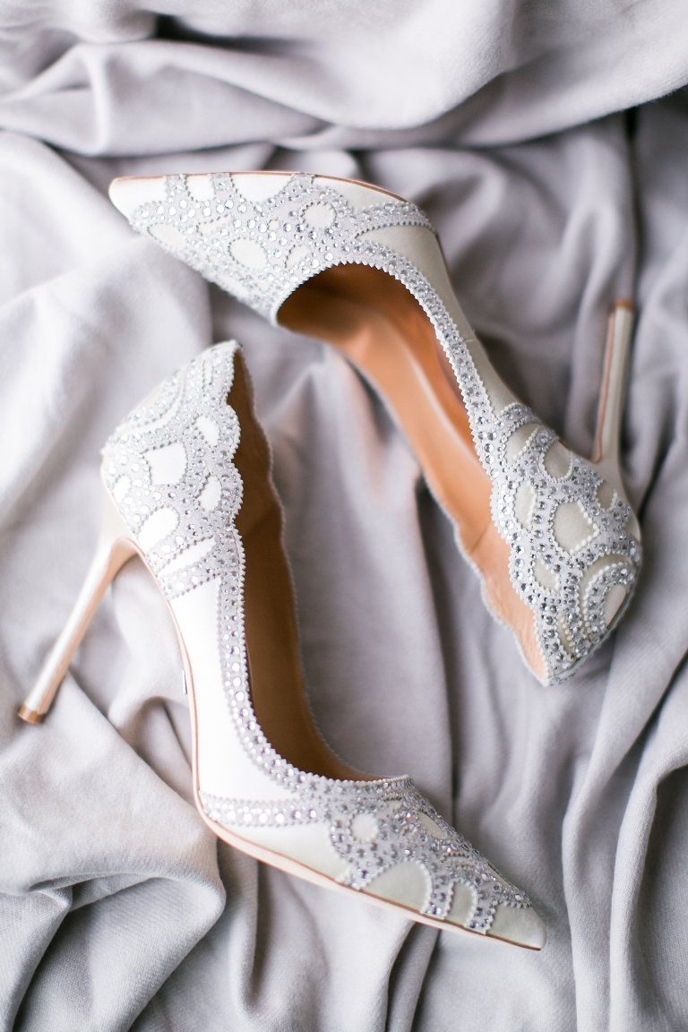 Manolo Blahnik Bridal Shoes, Winter Wedding Shoes, Devils Thumb Ranch Wedding, Amy Caroline Photography