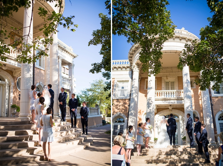 Ceremony Pictures At Grant Humphreys Mansion Outside Denver Wedding Photographers Amy Caroline Photography